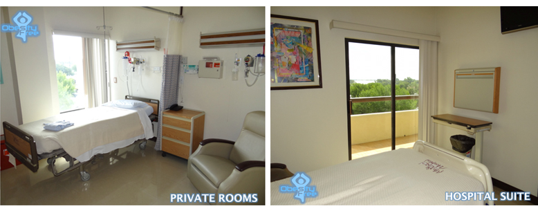 Private rooms and Hospital suite